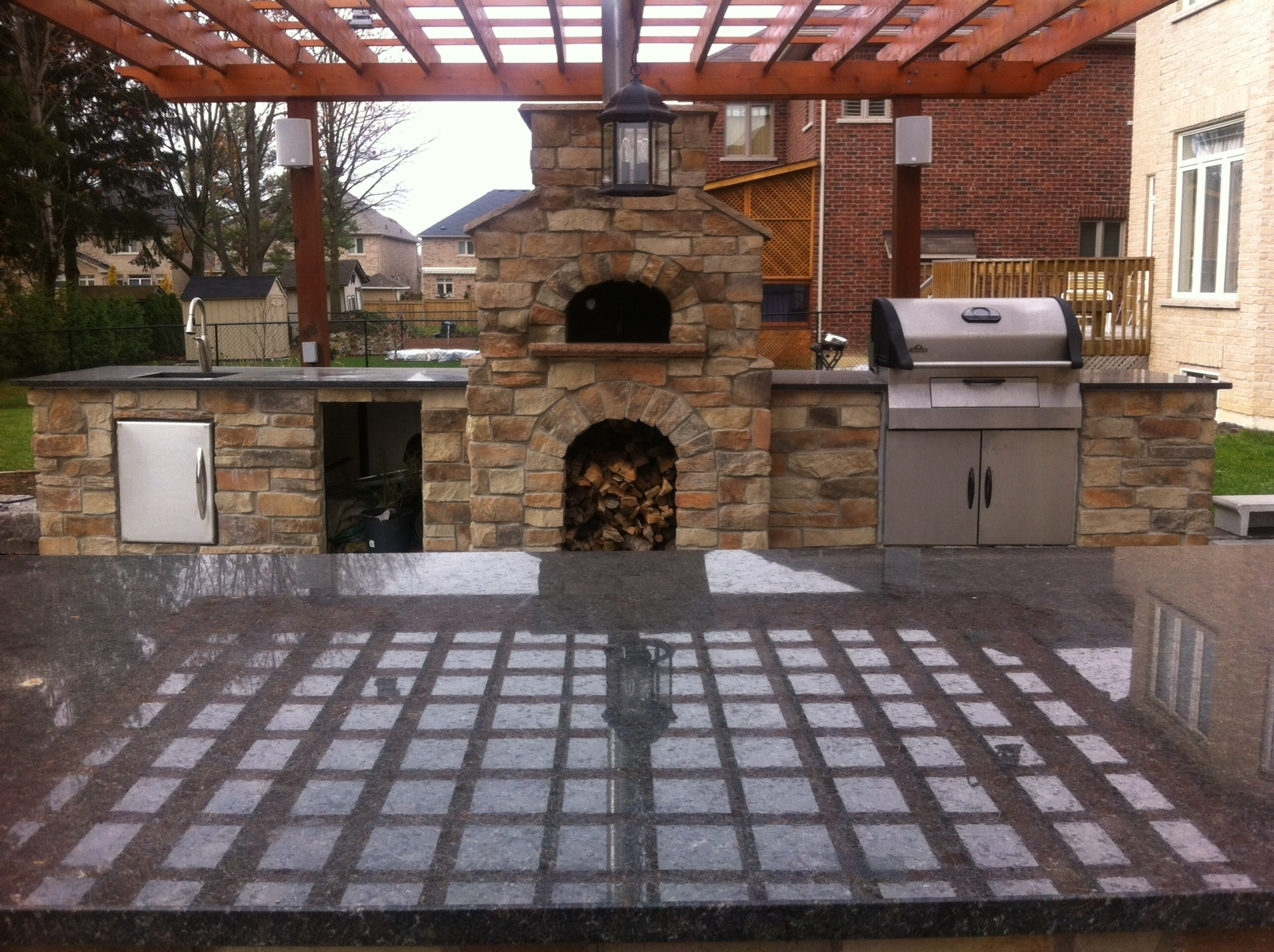 pizza oven picture gallery outdoor kitchen outdoor