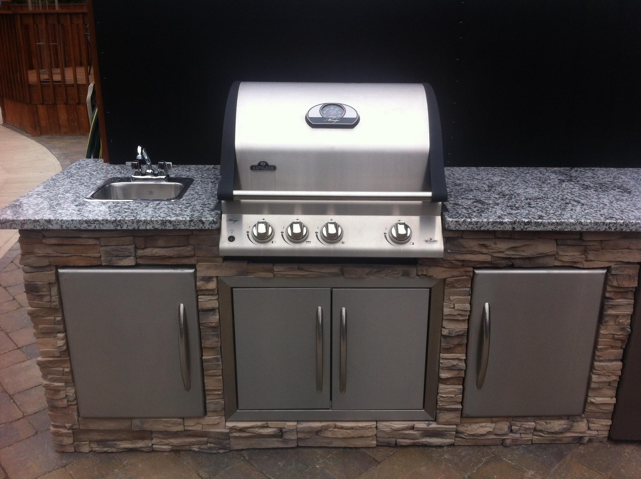 outdoor kitchen kit steel frame